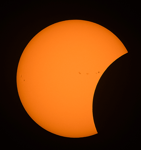 Debbie St.Amand, formerly of Massena, enjoyed the solar eclipse from her backyard in Vermont.