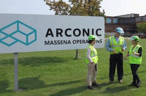 Assembly member tours Massena's Arconic plant, says new