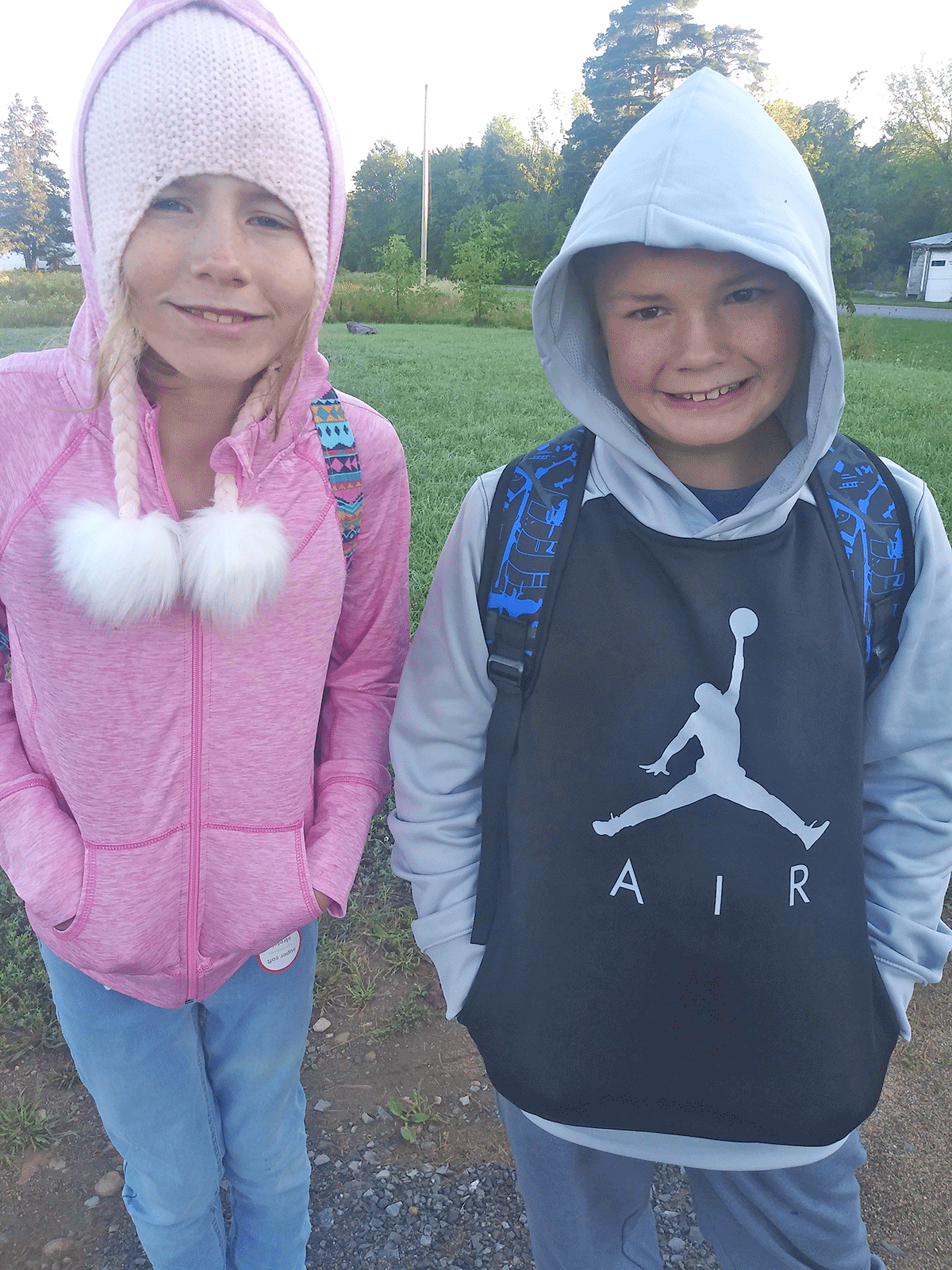 Larissa Snyder started sixth grade and Michael Snyder Jr. began fifth grader, which is his first year in middle school. They both attend Brasher Falls Central. Photo submitted by Samantha Sirles.