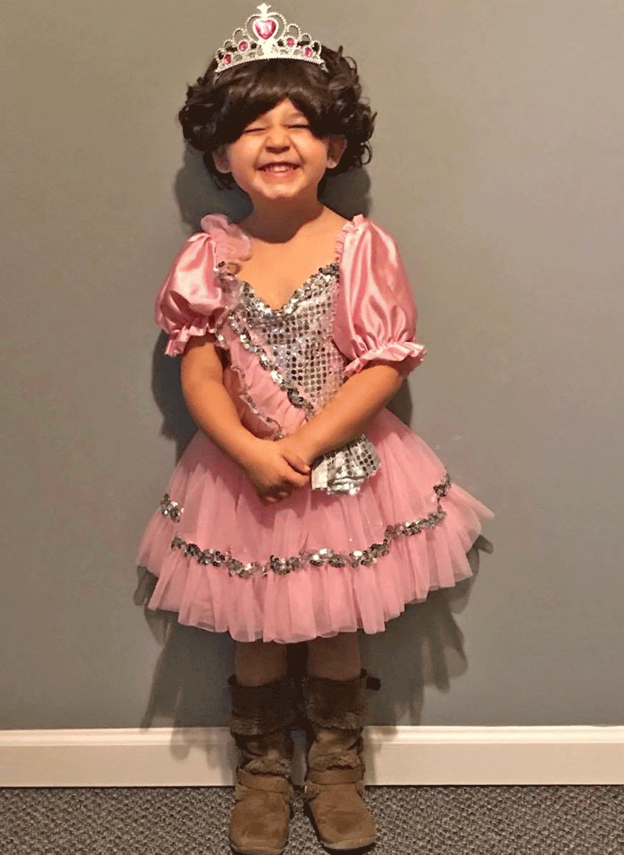 Hailey Richards, 3, all ready for her first Halloween party at St. Lawrence Central Headstart. Photo submitted by Michelle Lucas.