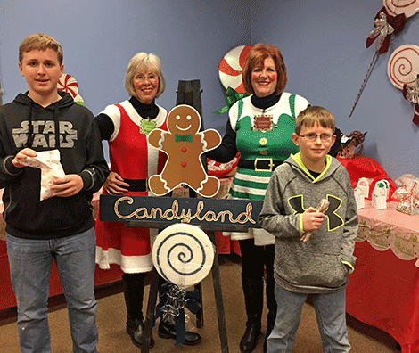 From left, Drew Demers, Diane Daily, Janice Shoen and Dylan Demers.