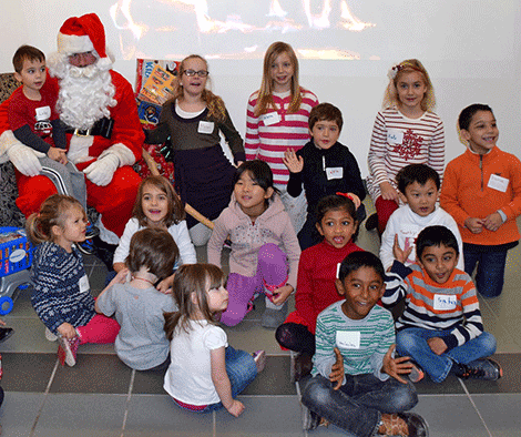 Children of Clarkson University employees donated toys to the Potsdam Holiday Fund.