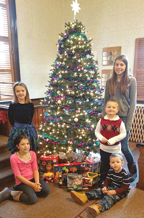 Kids from the church shopped for and gave 20 gifts to Toys for Tots.