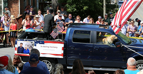 The Morristown Gateway Museum float