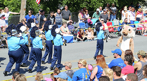 The Gouverneur Wildcats marching band