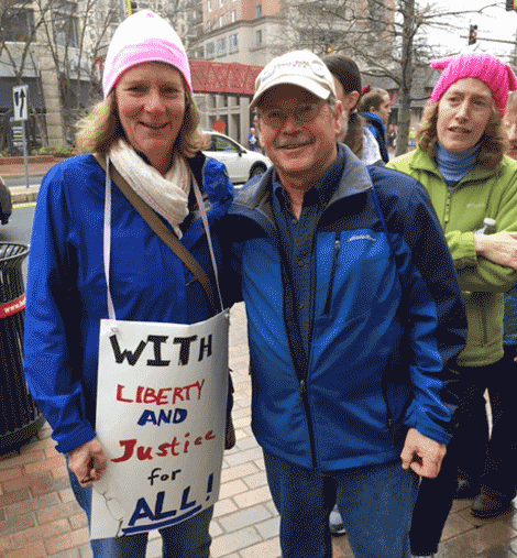 Pat and Greg Snider ready for the march