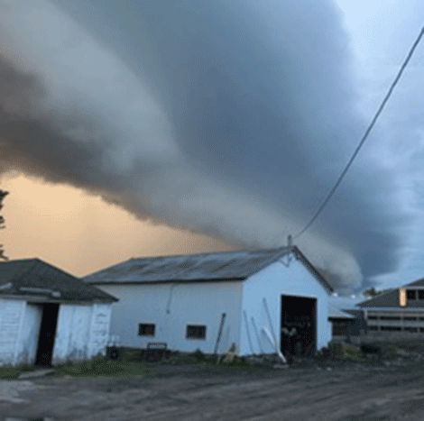 The storm was brewing at Chambers farm in DePeyster. Photo by Sandra Chambers.