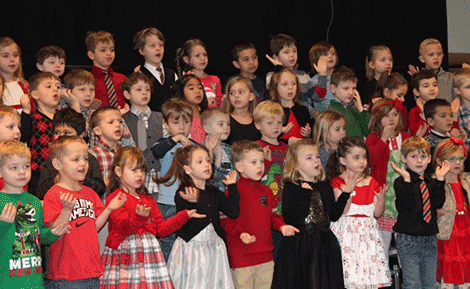 Lawrence Avenue Elementary School kindergarten students recently presented a holiday concert to families and friends.