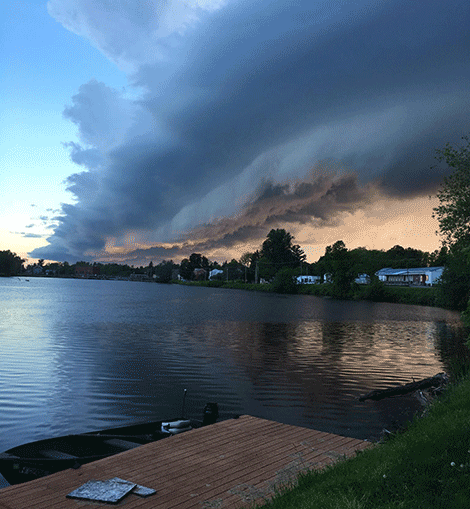 Storm clouds over Heuvelton by Greg Thompson