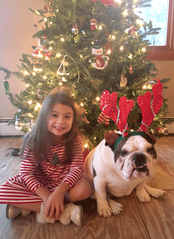 Katie Brown, 6, left, and Effie Brown, 3, both of Peirrepont, are ready for the holidays.