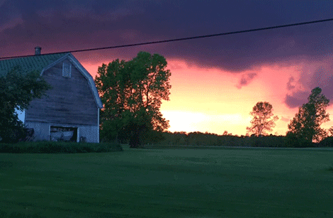 Jenifer Backus snapped this shot of the sunset following the storm in Louisville.