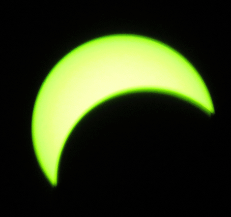 The solar eclipse as seen from DePeyster by photographer Donna Pray of D J Prays Photography Plus.