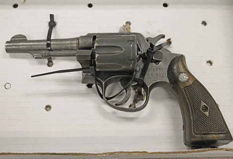 A confiscated revolver