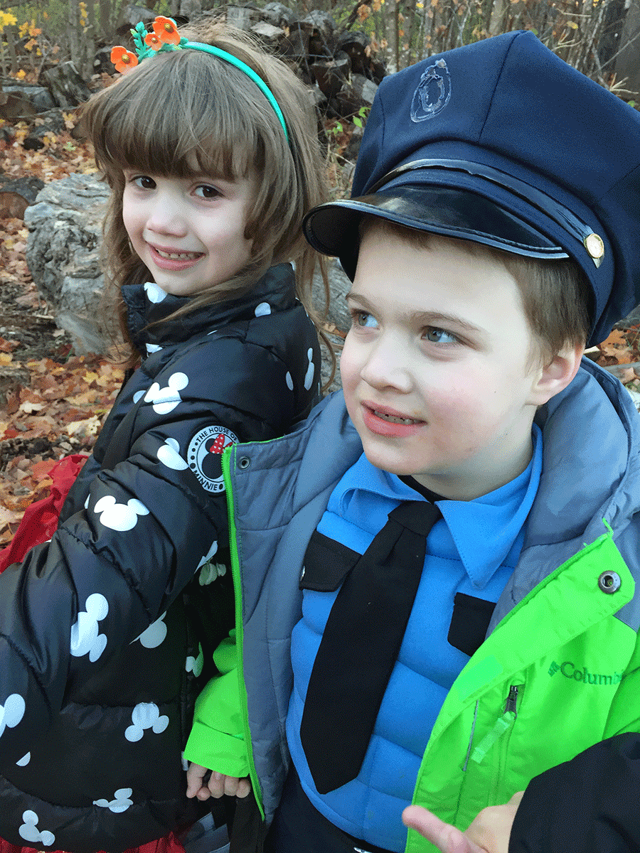 Andrew and Alexandra had a blast trick-or-treating in Parishville. Photo by Abigail Remington.