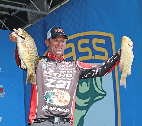 Kevin VanDan turned in one of the largest bags of the day, weighing 24 lbs., 5 oz. One of the fish weighed 6 lbs., 5 oz.