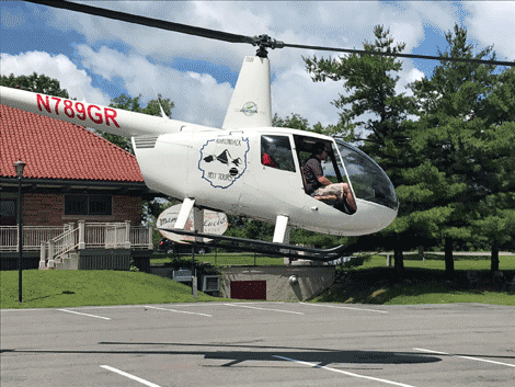 Helicopter rides were offered by Go Aviation at the Potsdam Summer Festival