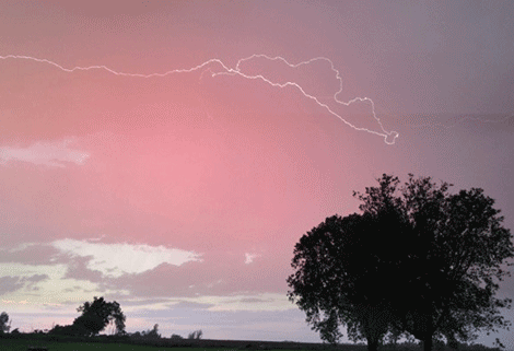 We were coming home from my daughter's softball game in Parishville and we were in awe of the sky,' said Jennifer Sullivan, who submitted the above photo. 'We saw every color imaginable,' she said. Photo taken by Sullivan's daugher, Madrid-Waddington Central sixth grade student Lacey Sullivan.