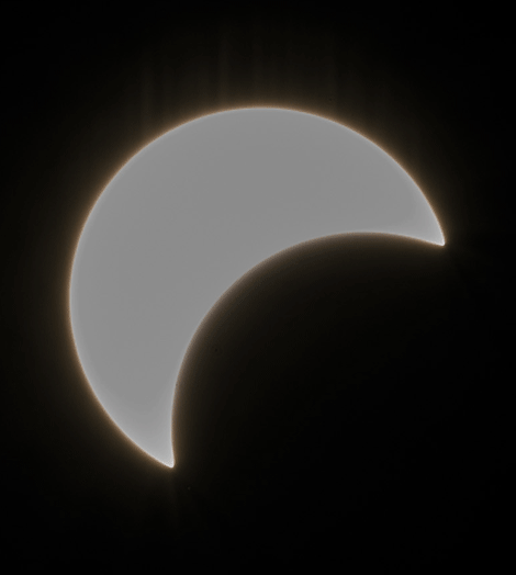 Local photographer Don Straight of Brasher Falls took this solar eclipse shot while at the Nature Center in Massena
