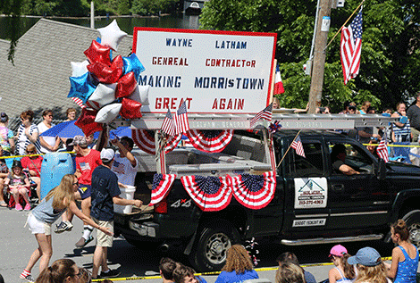A Morristown parade float