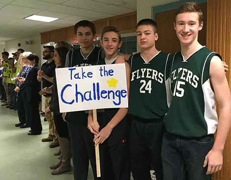 Norwood-Norfolk Cenral basketball players promote being kind