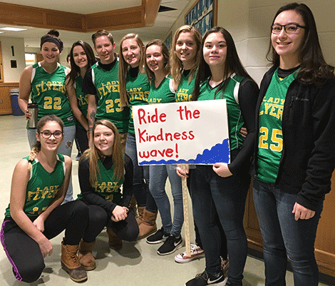 NNCS Lady Flyers says 'Ride the Kindness Wave'