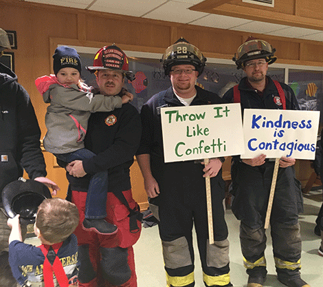 Firefighters say 'Kindness is Contagious'