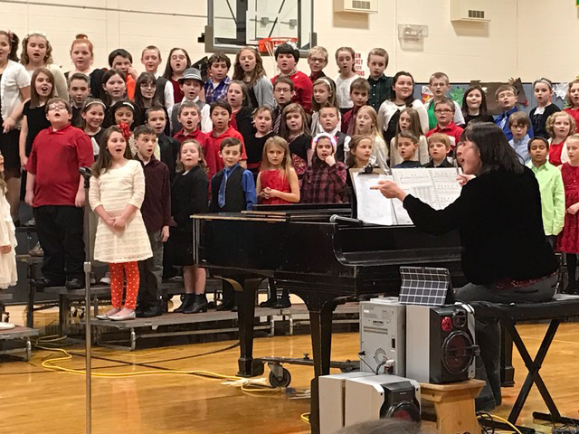 Norwood-Norfolk Elementary School third and fourth graders recently performed their holiday concert.