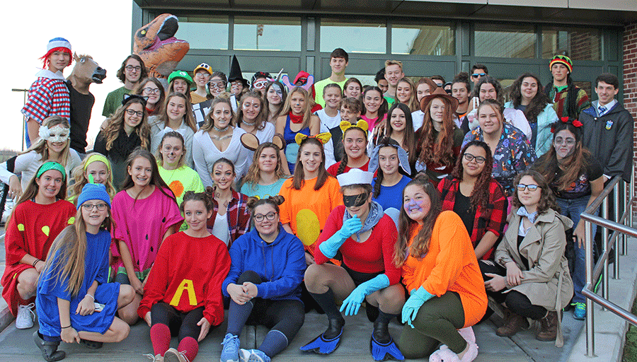 High school students at Norwood-Norfolk Central School donned costumes for some Halloween fun this year.