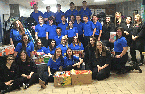 The criminal justice and cosmetology programs at Seaway Tech collected a large number of coats and canned foods. They went to the Common Cents Thrift Shop at St. Phillip's Church in Norwood and the local neighborhood center.