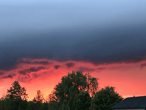 Colleen Ayers of Parishville snapped this photo during the storm. She described it as 'beautiful and eerie at the same time.'