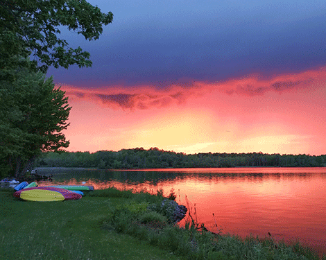 The storm front moves over Norwood Lake Tuesday leaving photographer Donna Planty with a breathtaking view.