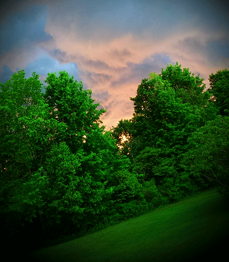 Clouds began to roll in when Cassy Page snapped this shot in Rensselaer Falls.