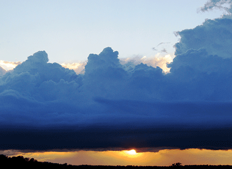 Blue clouds were seen above Richville Tuesday night by photographer Rachel M. Guyre-Riley.