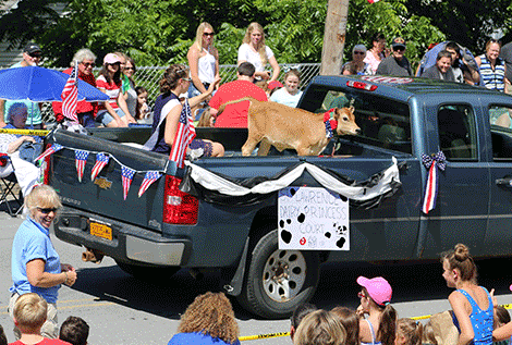 St. Lawrence County dairy princess and mascot