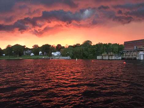 Sicilia Kahrs took this photo Tuesday night just before a thunder and lightning storm hit the village of Norwood.