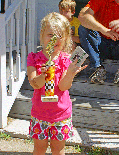 Alex Backus cinched second place in the Go-Kart Race Toddler Division.