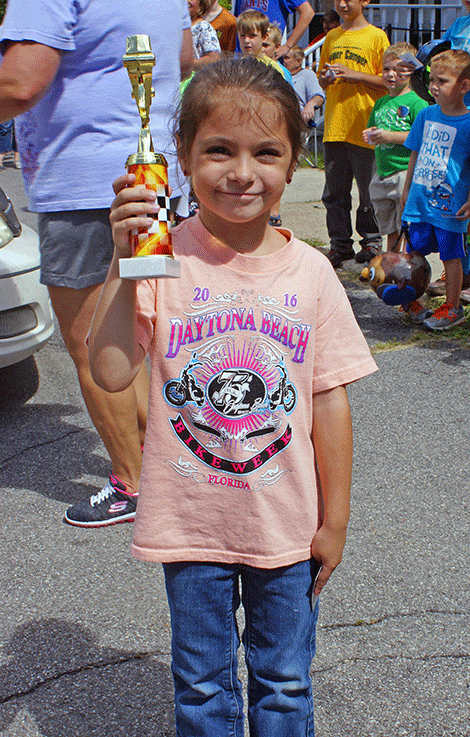 In the Go-Kart Race Toddler Division, Candace Cardinell won third place.
