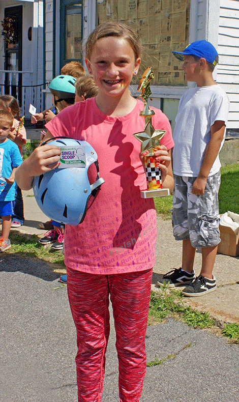 Taking first place in the Go-Kart Race Junior Division was Cheyenne Wilson.