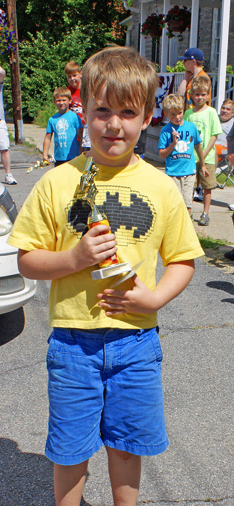 Colby Backus won third place in the Go-Kart Race Junior Division.
