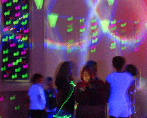 Friday night's glow dance for kids from grades 6-12, coordinated by Tammi Jones was well attended, say organizers.
