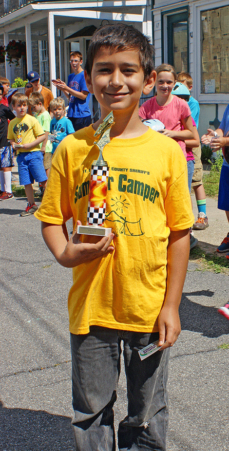 Josh (no last name given) won second place in the Go-Kart Race Junior Division.