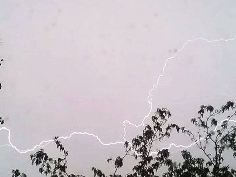 Lindsey Baker of Waddington braved the storm to snap this shot of lightning.