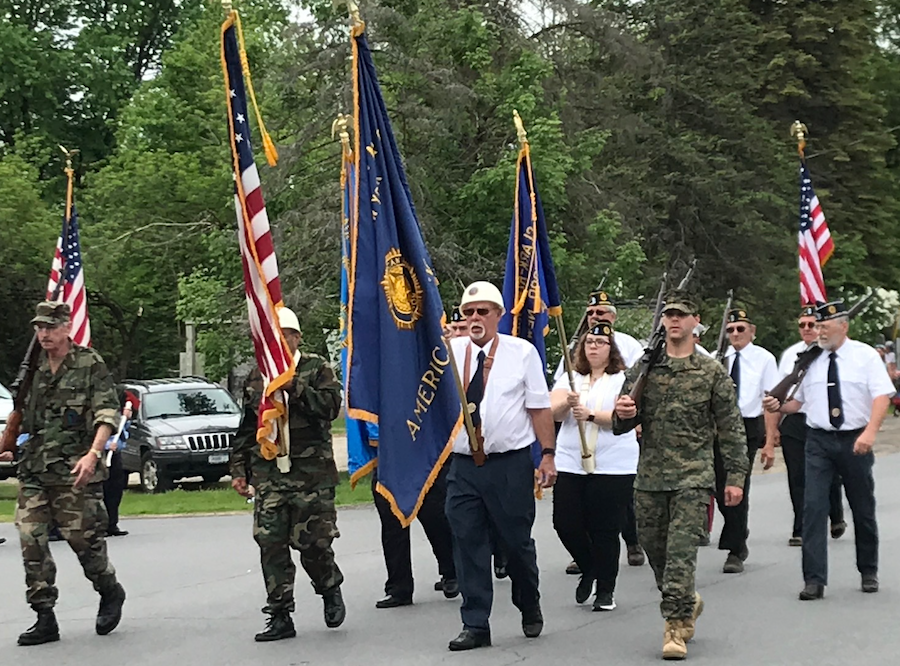 Norwood American Legion color guard
