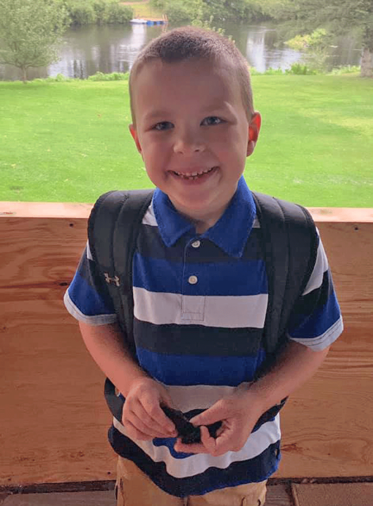 Above is Wyatt Todd excited for his first day of third grade at Banford Elementary in Canton. Photo submitted by Nichole Todd.
