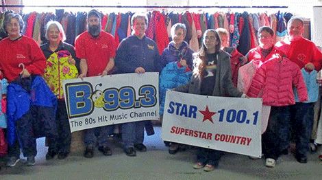 B 99.3, STAR 100.1, Fidelis Care and numerous area businesses garnered 468 jackets for Coats for Kids