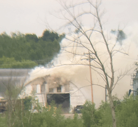 A business that sells fertilizer, herbicides and pesticides caught fire Tuesday