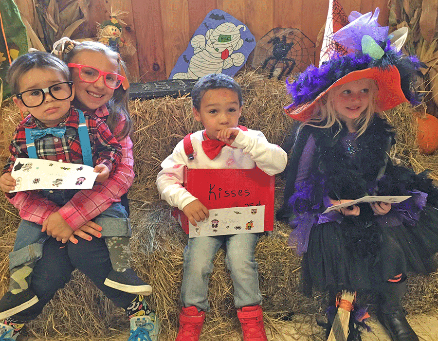 Norwood American Legion kids Halloween party costume winners were Lily Rafferty, first place for witch on a broom; Brocspen and Aryiah Clark second place for nerds; and Jerone Burks, third place for kiss box.