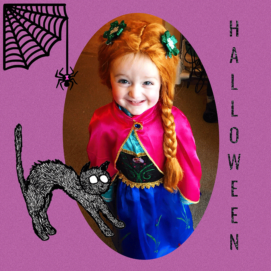 Grace Marsey, 2, Norfolk, gets ready for Mall-O-Ween at the St. Lawrence Centre mall in Massena as Princess Anna from Disney's Frozen. She is the daughter of Kazz and Brandi Marsey.