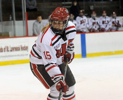 Rylee Smith '14 had two goals and an assist in the 6-0 win over #9 Northeastern., Photo by Tara Freeman.