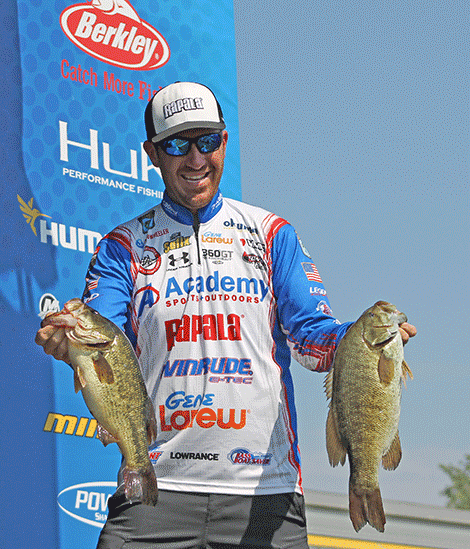Jacob Wheeler shows off some of his 18 lbs. bag